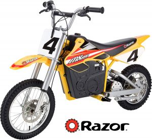 Razor MX650 (yellow), best for hills/off-road riding