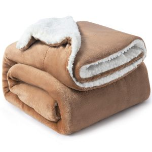 Bedsure Sherpa Blanket Throw Size, 3.5 by 6 feet bed/best for outdoors