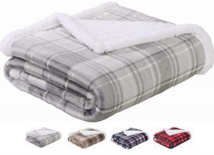 SEDONA Sherpa Blanket Twin Size (Gray), best for bedroom