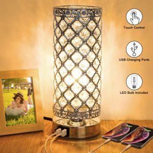 Crystal Touch Control Table, best energy efficient touch lamp