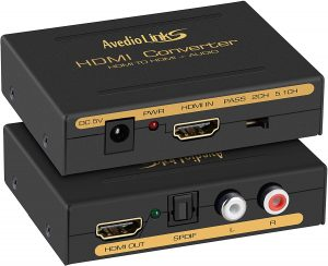 4K HDMI Audio Extractor Splitter, avedio links 1080P HDMI to HDMI Audio Converter + Optical Toslink SPDIF