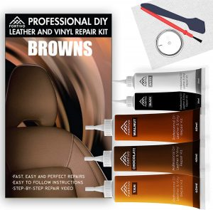Leather Repair Kits for Couches Brown- Vinyl Repair Kit, Leather Repair Kit, Furniture Repair Kit - Leather Scratch Repair for Refurbishing for Upholstery, Couch, Boat, Car Seats - Leather Dye Brown