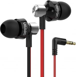 Betron DC950 Earbuds Wired in Ear Headphones Noise Isolating Earphone Tips Balanced Bass Driven Black