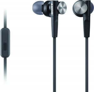 Sony MDRXB50AP Extra Bass Earbud Headphones Headset with Mic for Phone Call, Black